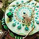 Stand for jewelry / under the mug. Dot painting. Mint mandala, Stand, Udomlya,  Фото №1