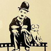 Картины и панно ручной работы. Ярмарка Мастеров - ручная работа Чарли Чаплин. Handmade.