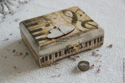 """Персональные подарки ручной работы. Ярмарка Мастеров - ручная работа. Купить Шкатулка """"Музыка"""". Handmade. Ретро стиль, шкатулка для денег"""