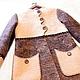 """Верхняя одежда ручной работы. Пальто """"Зефир в шоколаде"""". ElKo (Элла Ковалева). Ярмарка Мастеров. Зефир, флис"""