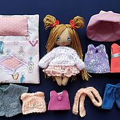 Куклы и игрушки handmade. Livemaster - original item Play sets: textile doll,play doll, doll with clothes. Handmade.