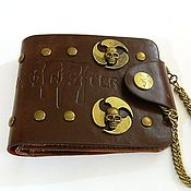 Сумки и аксессуары handmade. Livemaster - original item Monster SKULL wallet made of eco-leather. Handmade.