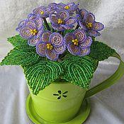 Цветы и флористика ручной работы. Ярмарка Мастеров - ручная работа Фиалка фиолетовая. Handmade.