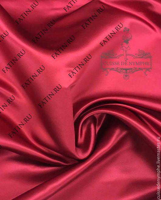 Шитье ручной работы. Ярмарка Мастеров - ручная работа. Купить Атлас-дюпон, Рубиновый (Ruby red), SDP-5561. Handmade.