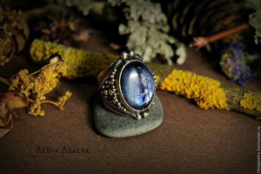 Кольца ручной работы. Ярмарка Мастеров - ручная работа. Купить кольцо. Handmade. Серебряный, кианит, перстень, натуральные камни