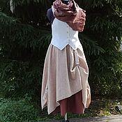 Одежда handmade. Livemaster - original item No. 209 Skirt boho linen. Handmade.