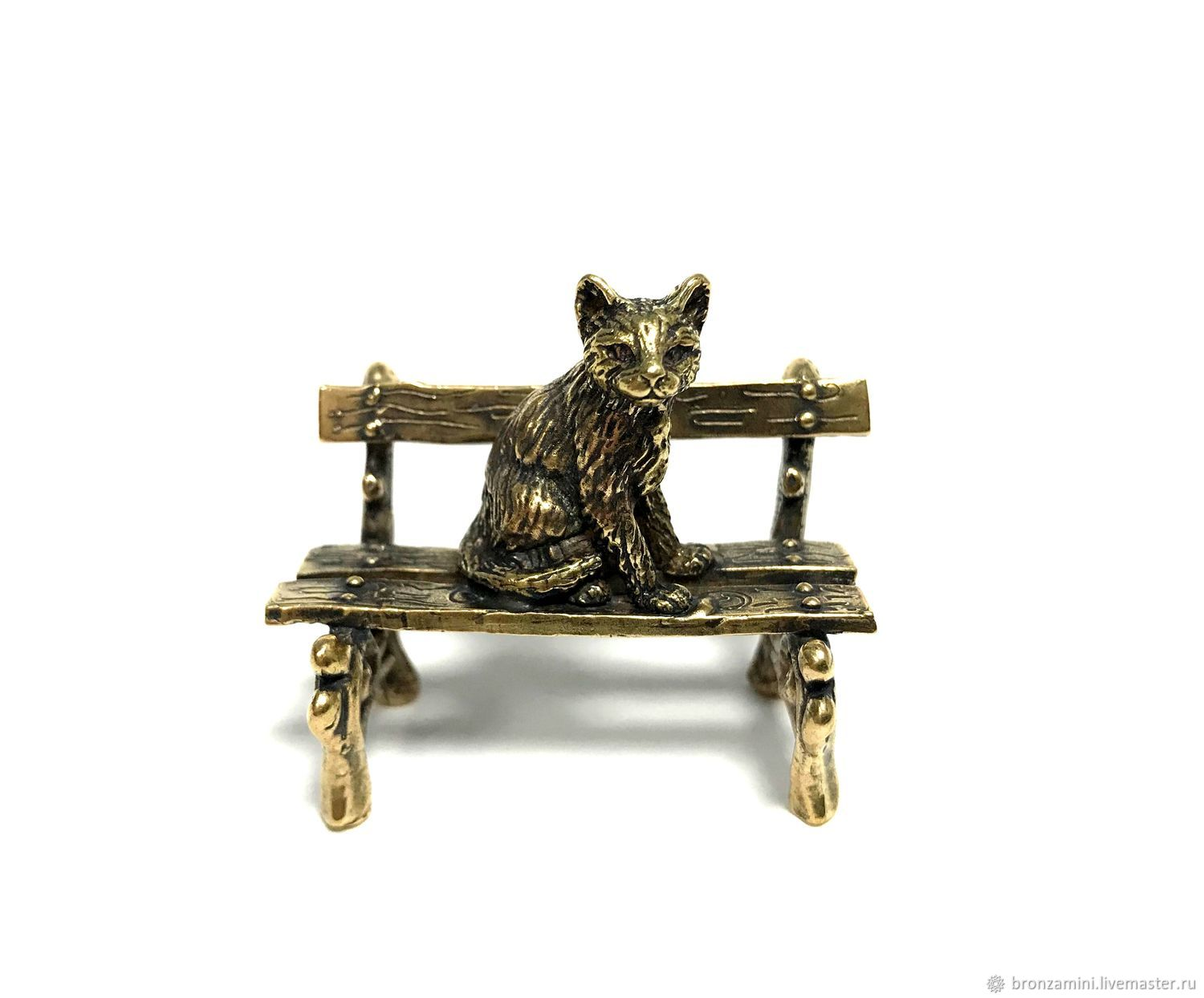 Kitty on the bench, Figurines, Kislovodsk,  Фото №1