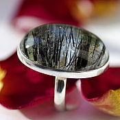 Украшения handmade. Livemaster - original item Ring with quartz-hair stone