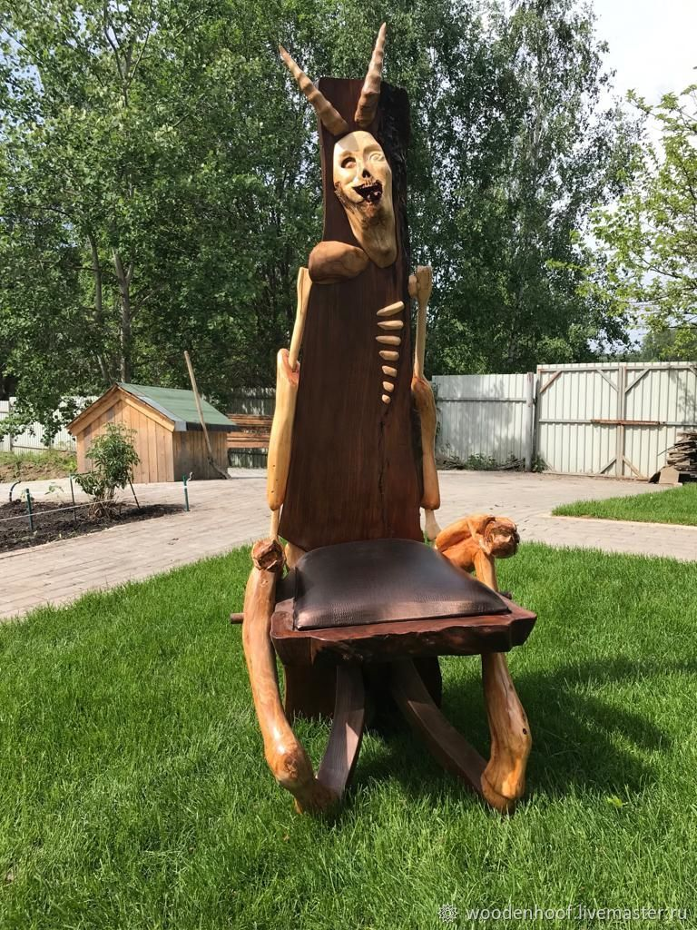 The most terrible and terrible chair - throne 'Demon' from elm, Chairs1, Moscow,  Фото №1