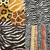 Салфетки для декупажа ручной работы. Ярмарка Мастеров - ручная работа Салфетки для декупажа 33х33 Африканские принты 4 вида. Handmade.