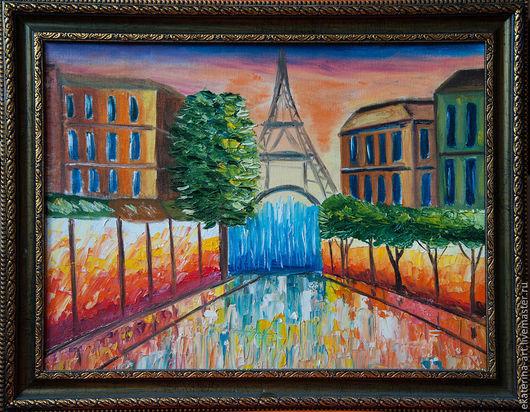Город ручной работы. Ярмарка Мастеров - ручная работа. Купить Огни Парижа. Handmade. Разноцветный, Париж, город, огни парижа