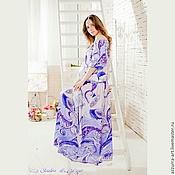 Одежда ручной работы. Ярмарка Мастеров - ручная работа Длинное платье из итальянского шёлка. Handmade.