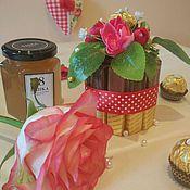 """Цветы и флористика ручной работы. Ярмарка Мастеров - ручная работа Торт из конфет и Мармелада """"Мечты сластены"""", подарок девочке, ребёнку. Handmade."""