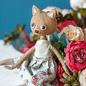 Куклы и игрушки ручной работы. Ярмарка Мастеров - ручная работа Кукла текстильная кошка. Handmade.