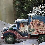 Подарки к праздникам handmade. Livemaster - original item Box,Christmas car. Handmade.