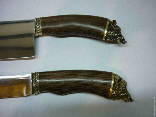 Оружие ручной работы. Ярмарка Мастеров - ручная работа. Купить Нож, тяпка для мяса с навершием зверя или птицы( латунное литье). Handmade.