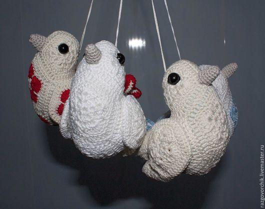 Игрушки животные, ручной работы. Ярмарка Мастеров - ручная работа. Купить Птички вязаные. Handmade. Разноцветный, птички крючком