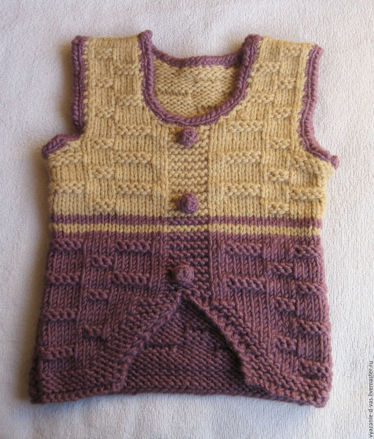 Children's knitted vest (tank top) Warm, Vests, Voronezh,  Фото №1