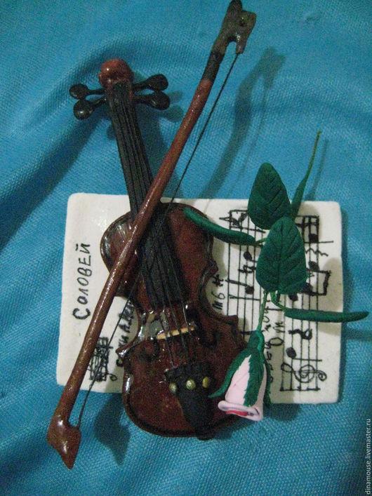 """Магниты ручной работы. Ярмарка Мастеров - ручная работа. Купить Магнит на холодильник """"Скрипка"""". Handmade. Комбинированный, музыкальный подарок"""