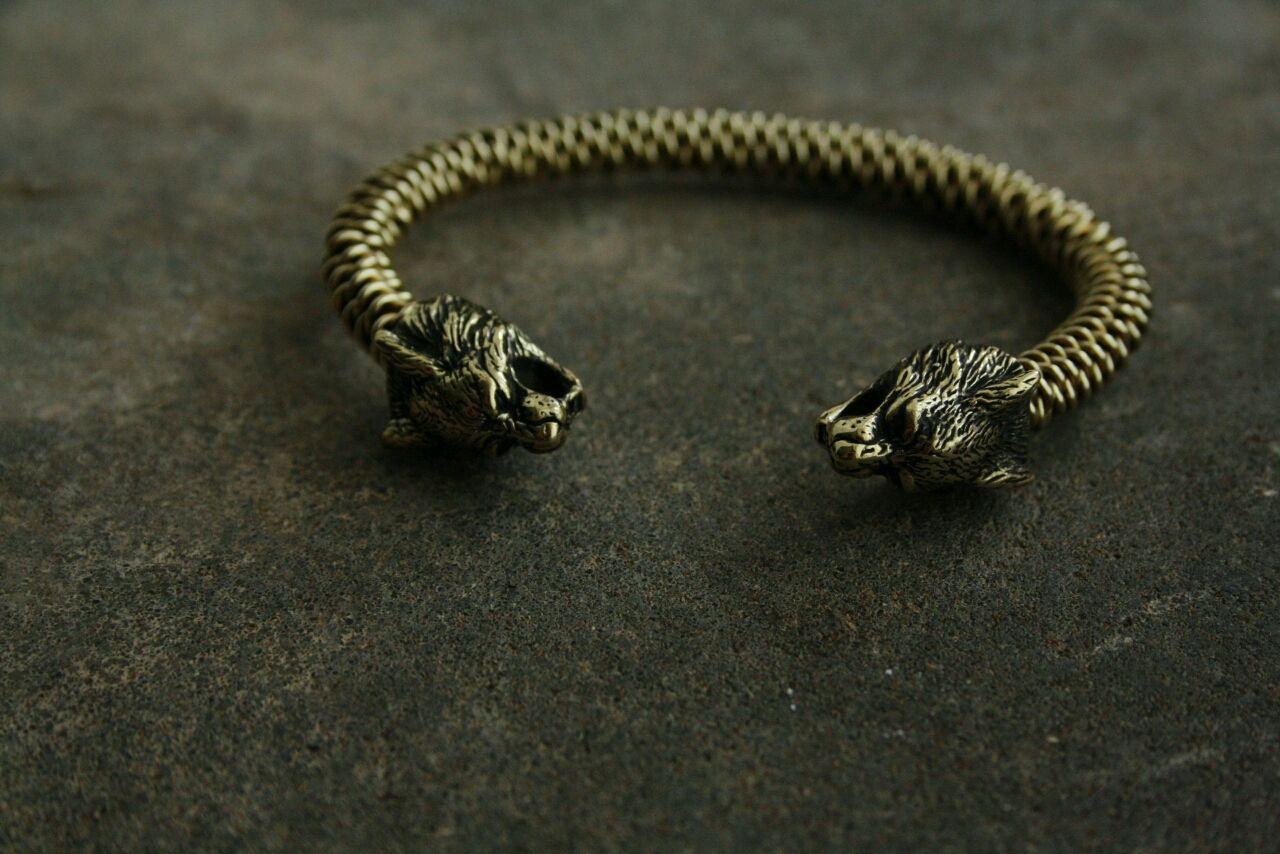 Bracelets Handmade Livemaster Braided Bronze Bracelet Lynx