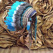 Одежда handmade. Livemaster - original item Indian headdress - Cloudy Day II. Handmade.