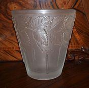 Винтаж handmade. Livemaster - original item Frosted glass vase, Inwald, 1930 Barolac gg. Handmade.