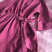Платья ручной работы. Ярмарка Мастеров - ручная работа Льняное женское платье Бордо. Handmade.