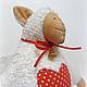 Куклы Тильды ручной работы. Овечка Тильда. Яна (HomelyGifts). Ярмарка Мастеров. Белый, овечка символ года, новогодние подарки