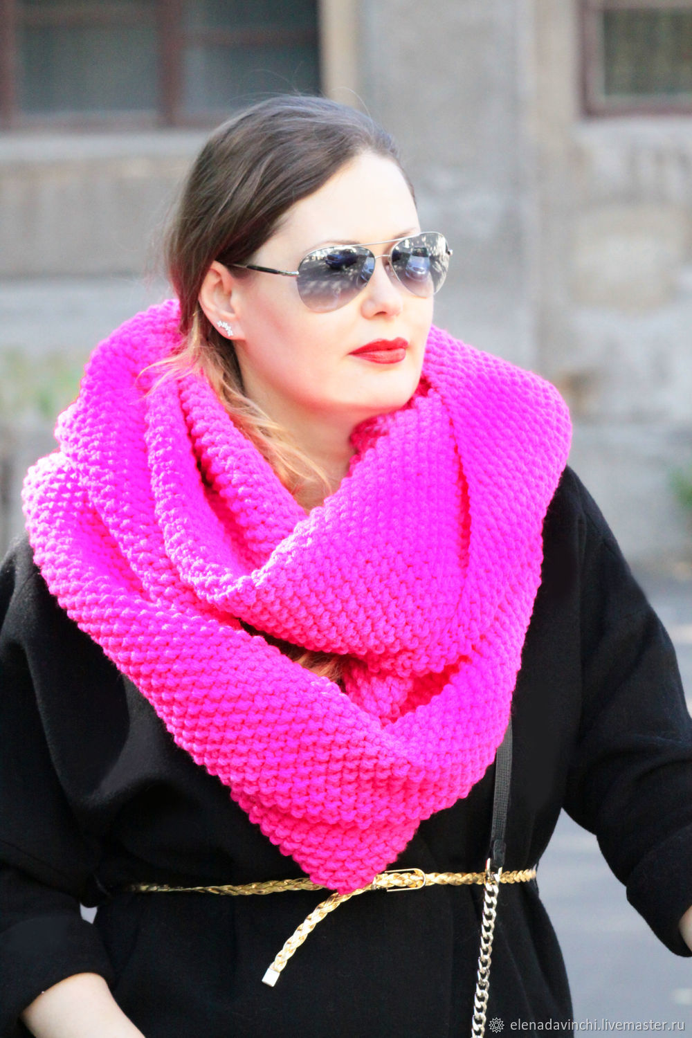 Snood knitted women's 'Neon', Snudy1, Moscow,  Фото №1