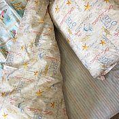 Подзоры и юбки для кровати ручной работы. Ярмарка Мастеров - ручная работа Ткань Перкаль. Handmade.