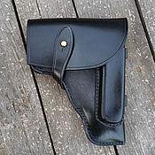Сувениры и подарки handmade. Livemaster - original item Authorized holster for PM, black. Handmade.