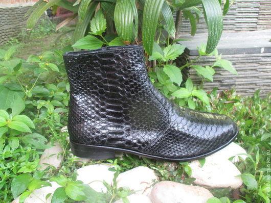 Обувь ручной работы. Ярмарка Мастеров - ручная работа. Купить Сапоги зимние и демисезонные. Handmade. Черный, сапоги демисезонные