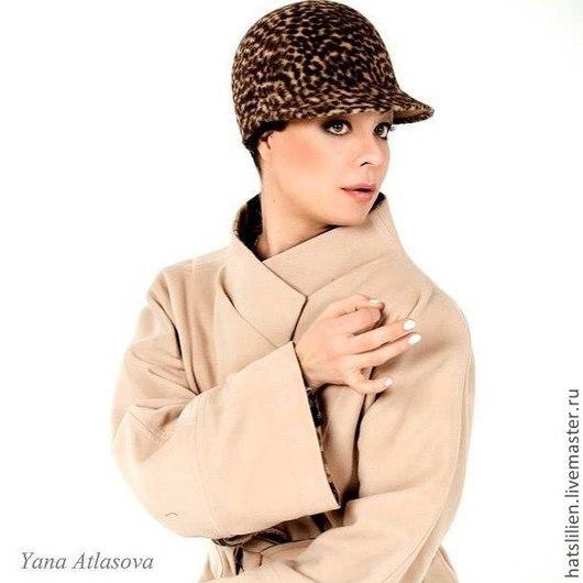 Кепки ручной работы. Ярмарка Мастеров - ручная работа. Купить Леопардовая кепка, жокейка.. Handmade. Разноцветный, звериная расцветка, для женщины