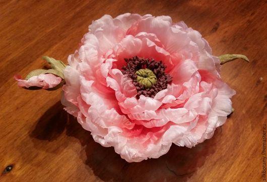 """Цветы ручной работы. Ярмарка Мастеров - ручная работа. Купить Мак """"Розовые грёзы"""".. Handmade. Маки, мак из шелка"""