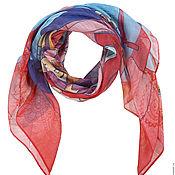 Аксессуары handmade. Livemaster - original item Handkerchief-a square with a designer print of 100% modal-1. Handmade.