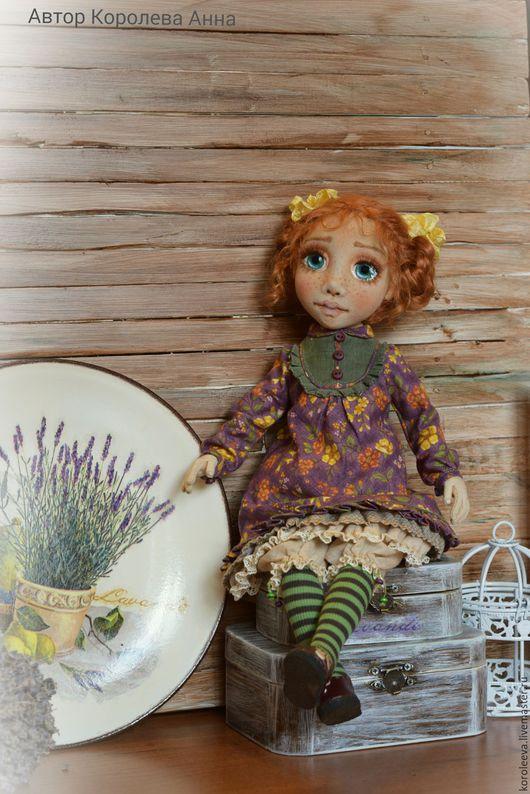 Коллекционные куклы ручной работы. Ярмарка Мастеров - ручная работа. Купить Кукла Авторская Алиса  Текстильная. Handmade. подарок женщине