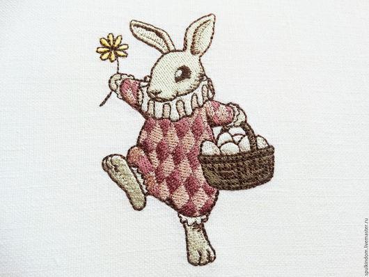 Салфетки под тарелку с вышивкой `Пасхальный кролик` `Шпулькин дом` мастерская вышивки