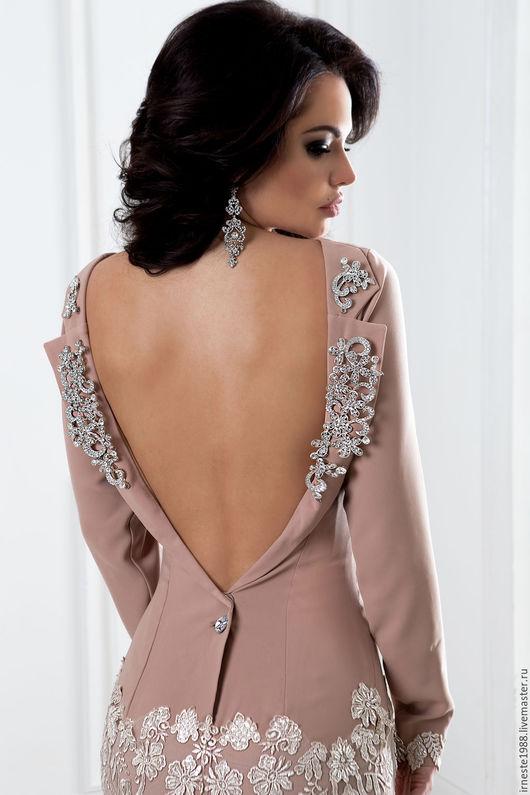 """Платья ручной работы. Ярмарка Мастеров - ручная работа. Купить Вечернее платье """"Миранда"""" со шлейфом и открытой спинкой. Handmade."""