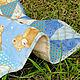 Пледы и одеяла ручной работы. Заказать Детское лоскутное одеяло покрывало в кроватку и коляску Голубые мишки. Personalized gifts Bags & backpacks (bobrovajahatka). Ярмарка Мастеров.