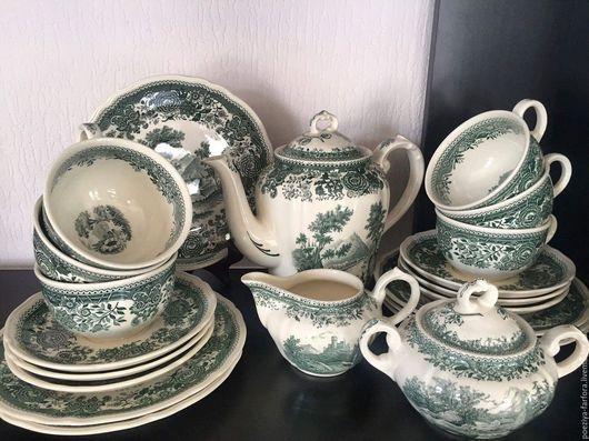 Винтажная посуда. Ярмарка Мастеров - ручная работа. Купить Чайный сервиз Villeroy&Boch. Handmade. Зеленый