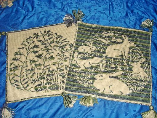 Текстиль, ковры ручной работы. Ярмарка Мастеров - ручная работа. Купить Сиденья на кресло Пасхальное настроение. Handmade. Пасха
