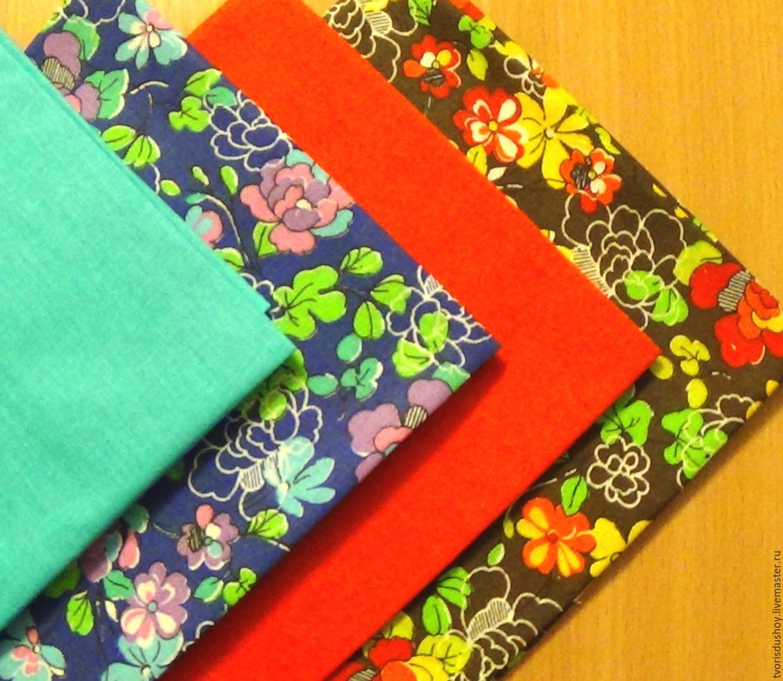 Набор тканей из хлопка 4 отреза (106), Материалы, Барнаул, Фото №1