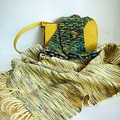 Аксессуары ручной работы. Ярмарка Мастеров - ручная работа Домотканый женский шарф Spring sun. Handmade.