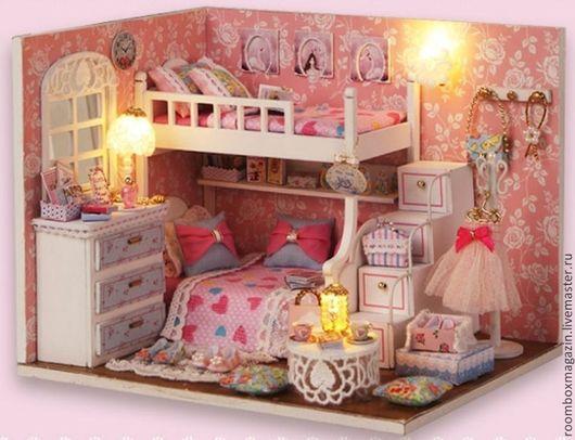 Кукольный домик (румбокс) для самостоятельной сборки