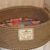 Для домашних животных, handmade. Livemaster - original item Basket bench of jute ,for cats and dogs. Handmade.