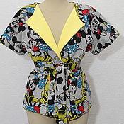 Одежда handmade. Livemaster - original item Vest cotton and wool colored Mickey mouse. Handmade.
