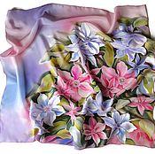 Аксессуары handmade. Livemaster - original item Batik Scarf Spring colors. Handmade.