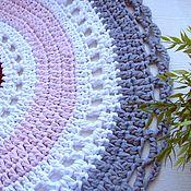 Для дома и интерьера handmade. Livemaster - original item Knitted rug knitted round Provence. Handmade.