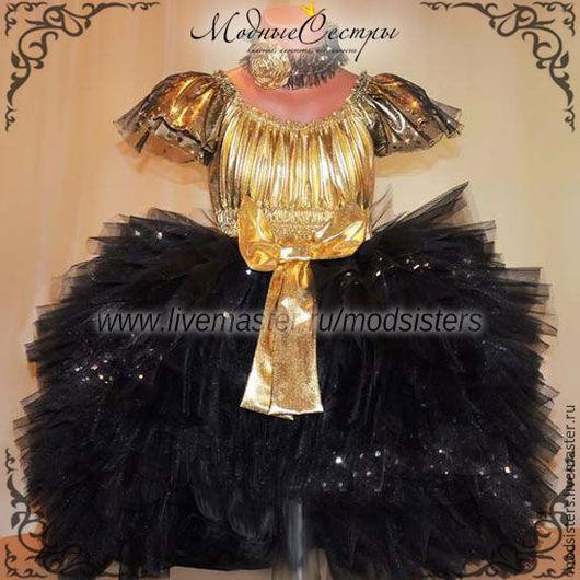 """Одежда для девочек, ручной работы. Ярмарка Мастеров - ручная работа. Купить Платье вечернее """"Черно-золотое"""" Арт.320. Handmade."""