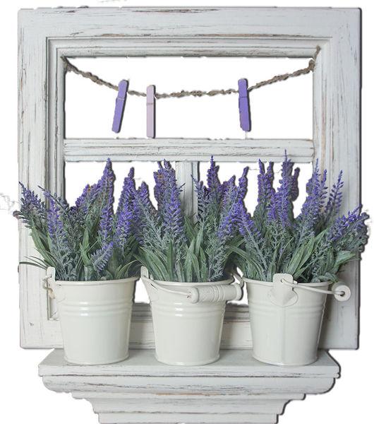 Интерьерное панно Окно с лавандой